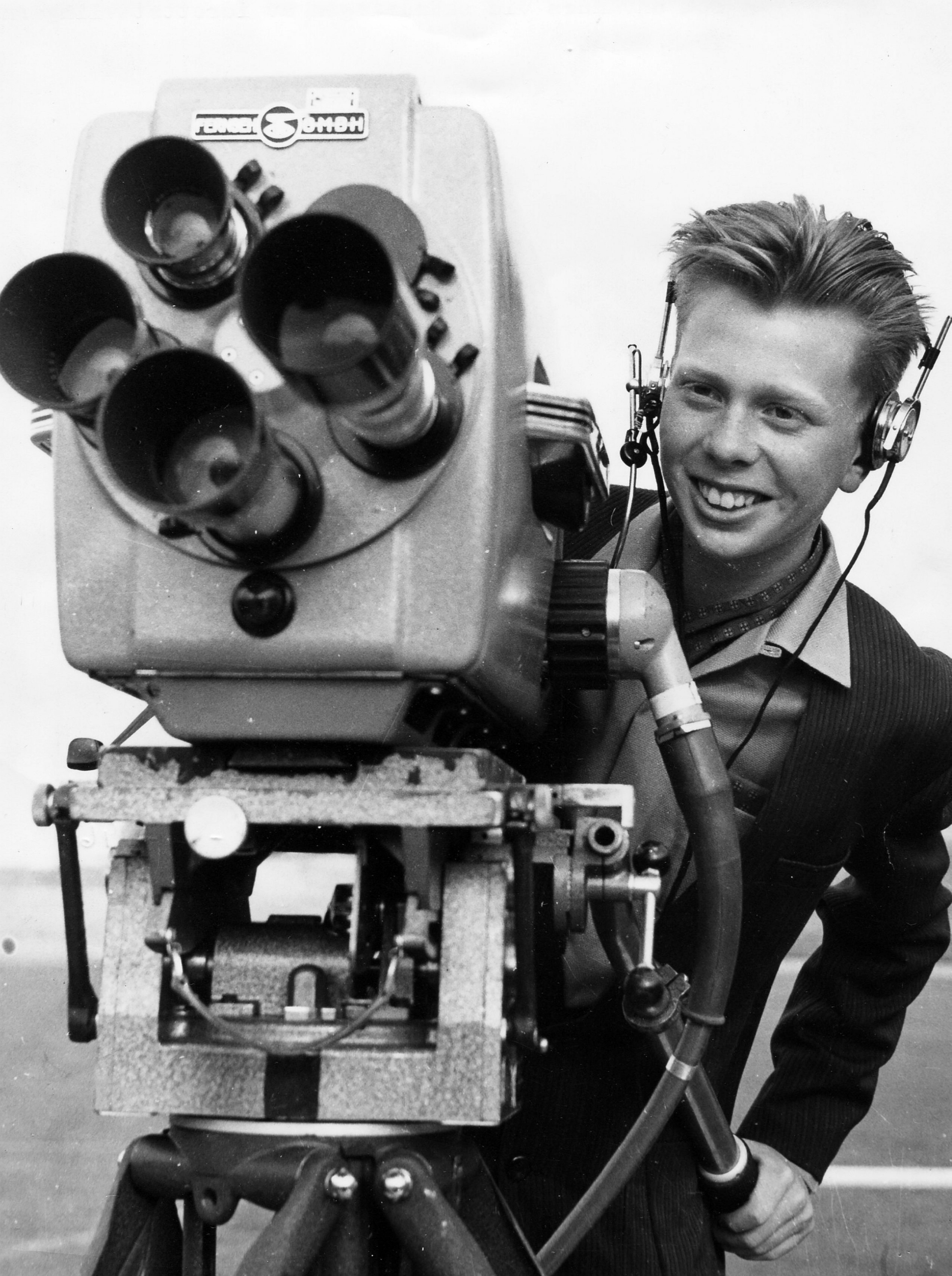 13 år gammal och redan bakom kameran    Foto: Sydsvenskans Bildarkiv